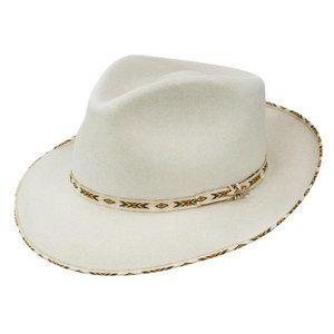 "Stetson Wool Fedora Hat in ""Bone"" Color"